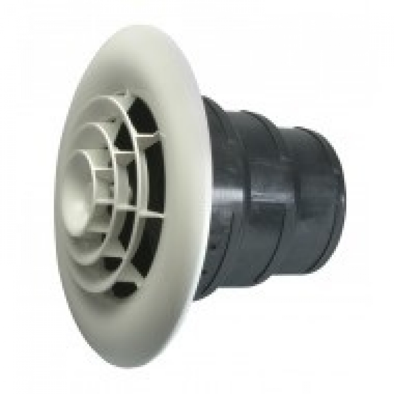 QUICK CONNECT Round Ceiling Diffuser with REDUCING BOOT