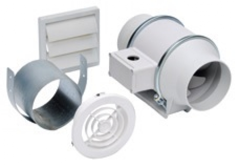S&P MIXED FLOW FAN Exhaust Vent Kits Single & Dual